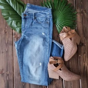 Ann Taylor LOFT Modern Skinny Distressed Jeans